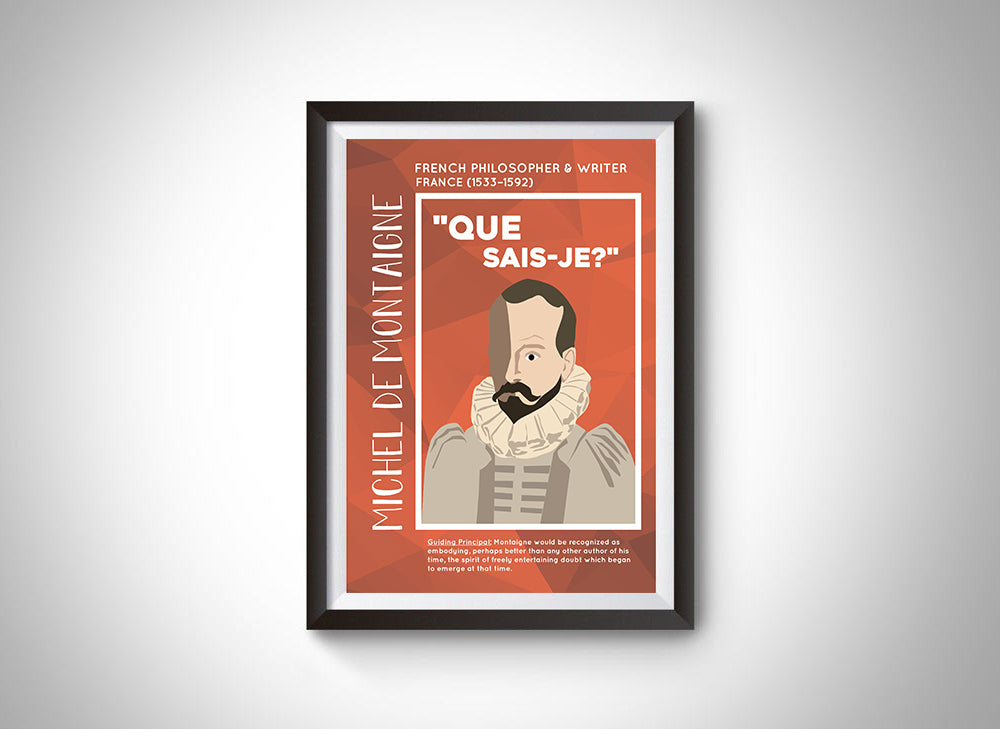 Michel de Montaigne Poster Wall Decor