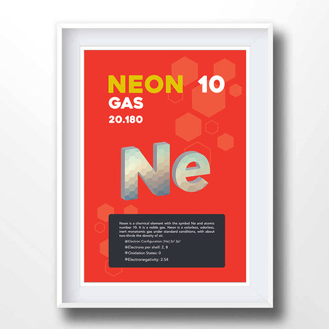 Neon Element Poster Wall Decor