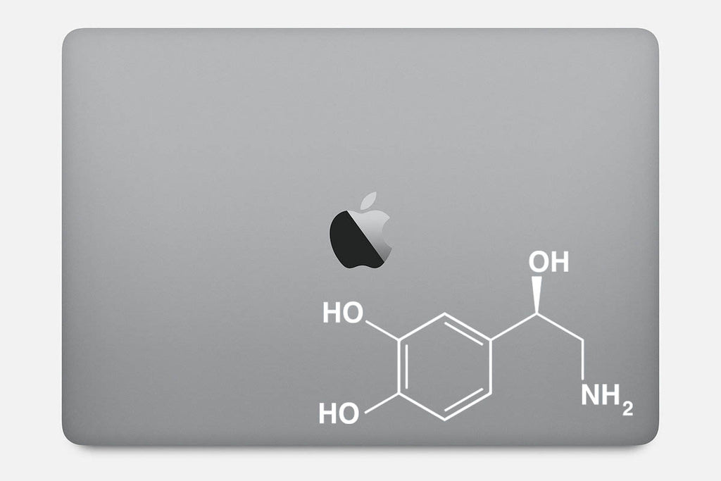 Noradrenaline Chemical Structure Decal Sticker