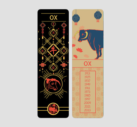 OX Chinese  Zodiac Bookmark