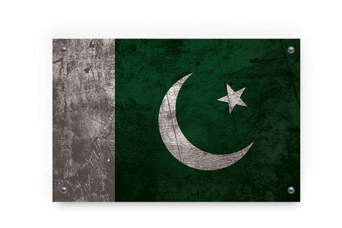 Pakistan Flag Graffiti Wall Art