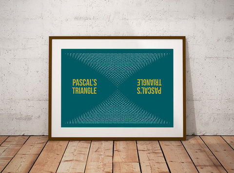 Pascal's Triangle Mathematics Wall Art