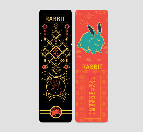 Rabbit Chinese  Zodiac Bookmark