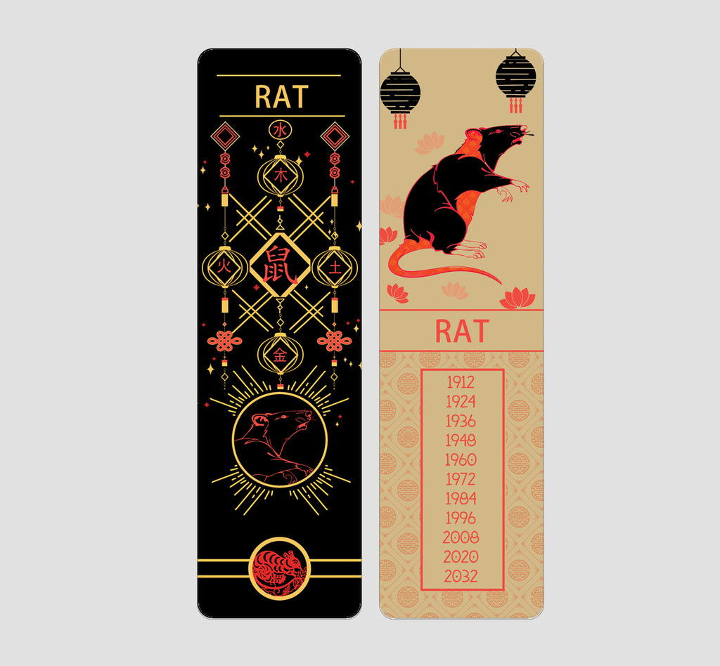 Rat Chinese  Zodiac Bookmark