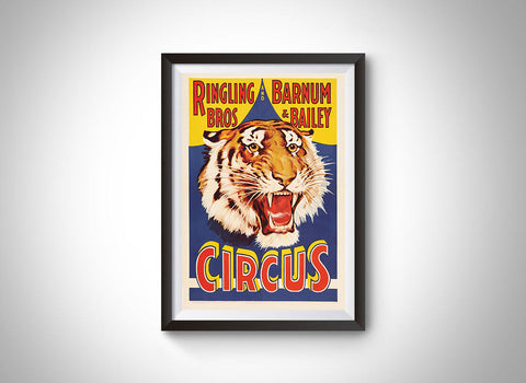 Ringling Bros. and Barnum & Bailey Circus Vintage Ad Poster