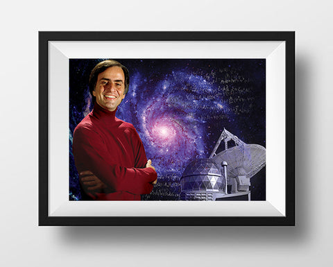 Carl Sagan Scientist Portrait Poster