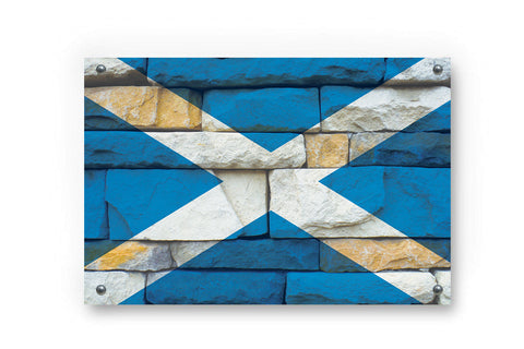 Scotland Flag Grafitti Wall Decor