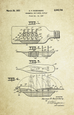 Ship in a Bottle Patent Poster (1951, N.P. Rosenberg)