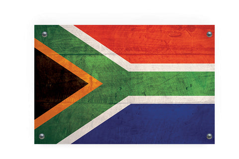 South African Flag Graffiti Wall Art