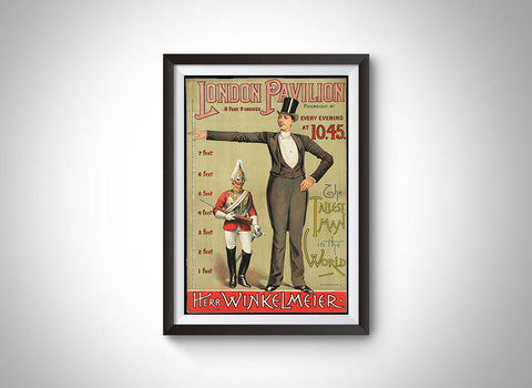 The Tallest Man in the World (Franz Winkelmeier) Vintage Ad Poster