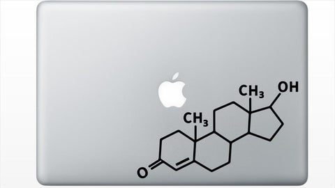 Testosterone Chemical Structure Decal Sticker