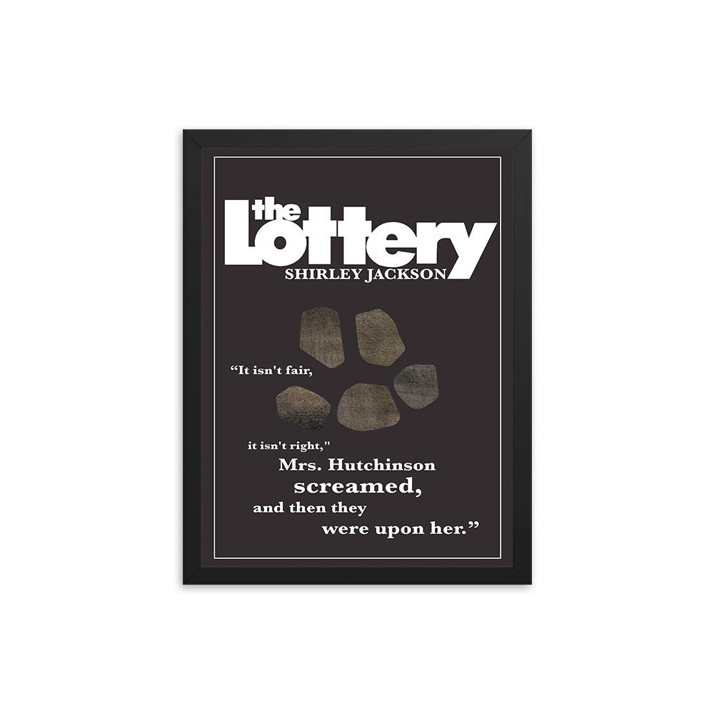 The Lottery by Shirley Jackson Book Poster