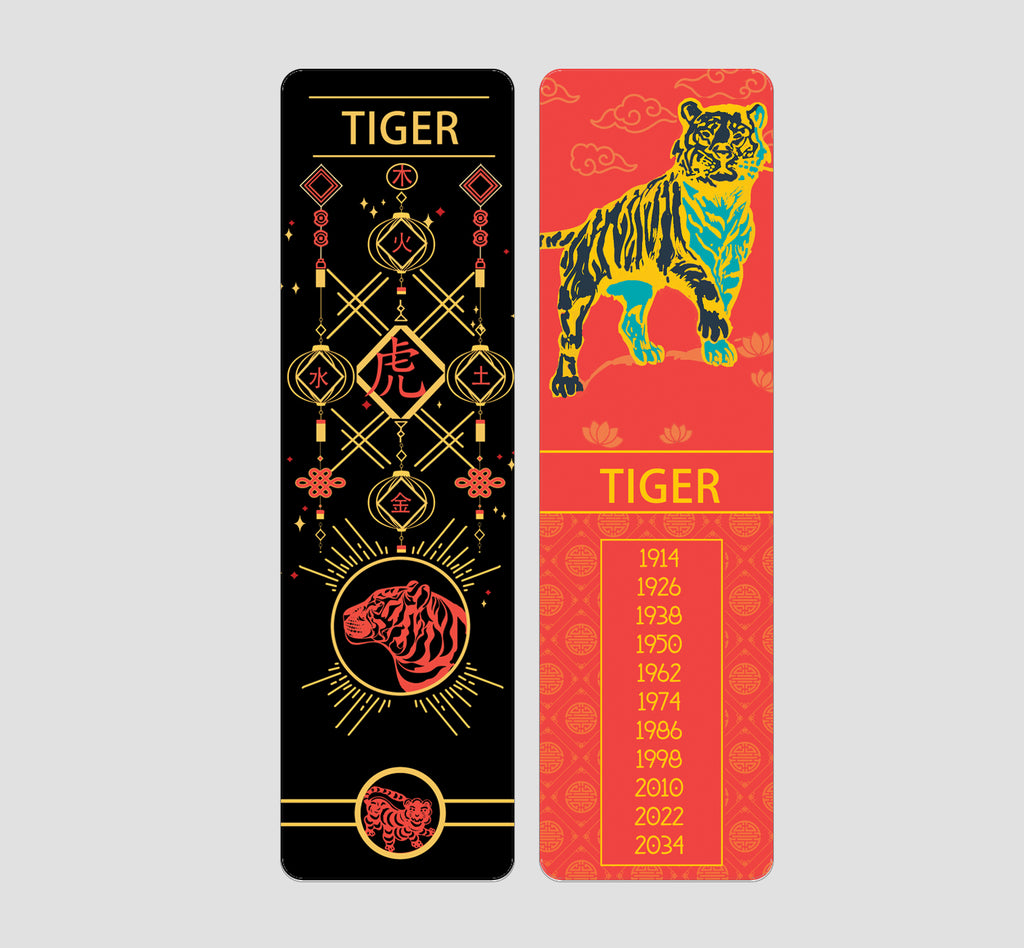 Tiger Chinese  Zodiac Bookmark