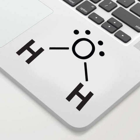 Water Chemical Structure Decal Sticker