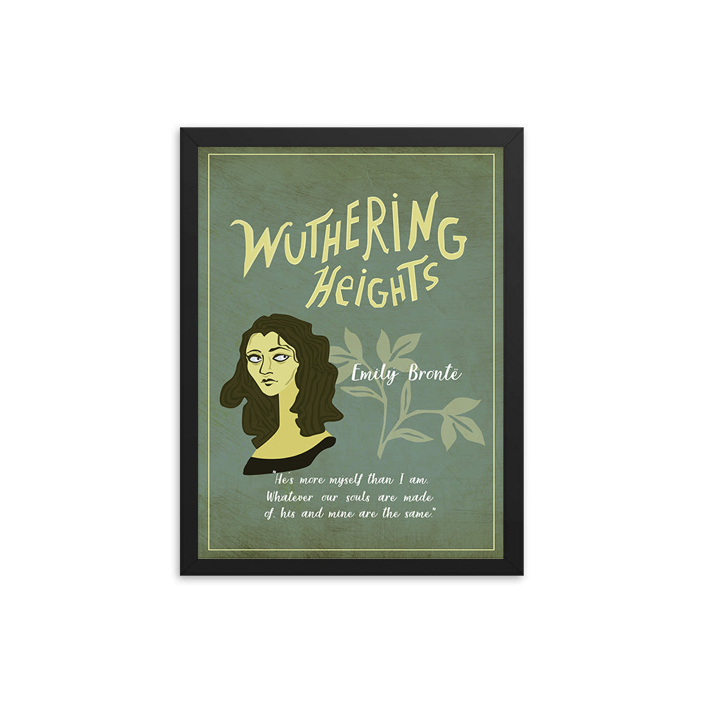 Wuthering Heights by Emily Brontë Book Poster