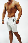 Marble White Lux Performance Shorts