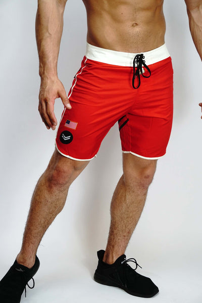Red/Cream Stage Shorts