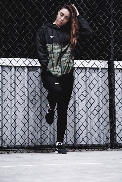 Black Camo Windbreaker