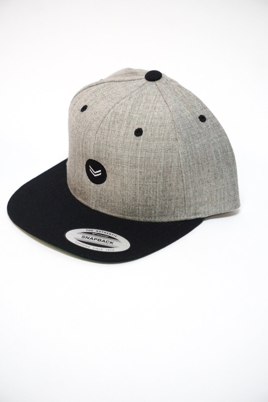 Heather Gray/ Black Snapback