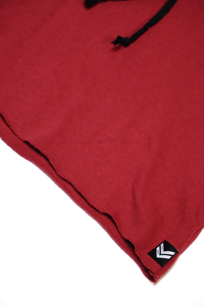 Burgundy Speed Sleeveless Hoodie