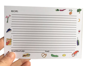 illustrated recipe cards