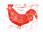 Rooster Block Print