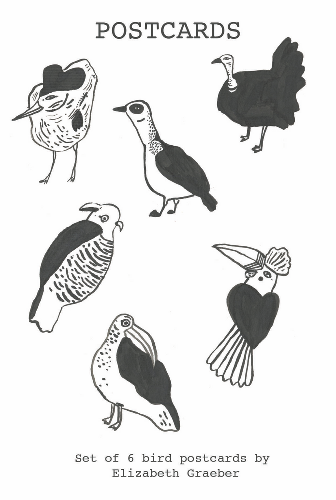 Birds postcard pack