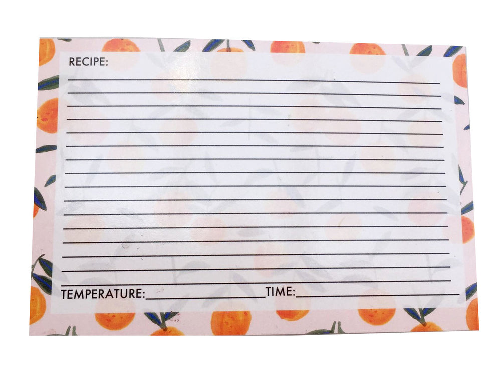 Clementine Recipe cards, set of 8