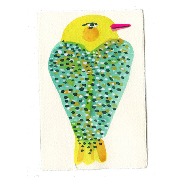 Yellow and Teal Bird