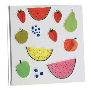 illustrated fruit stickers