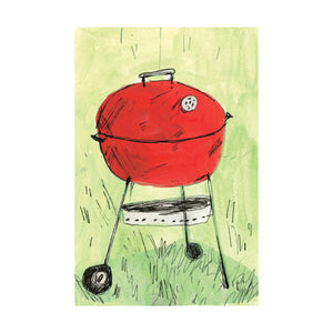 red grill illustration