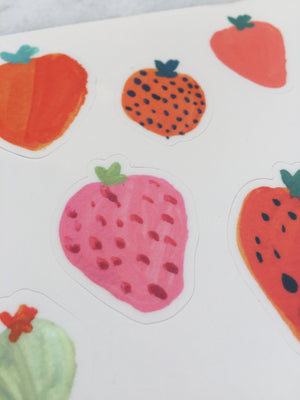 Strawberry Sticker sheet