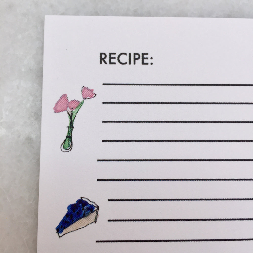 Recipe cards, set of 8
