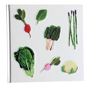 illustrated vegetable stickers