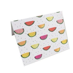 illustrated watermelon notecard