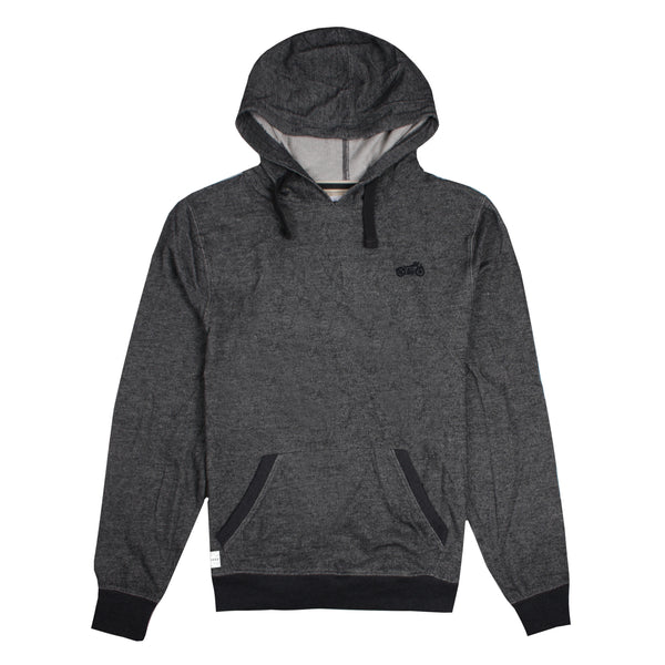 Biker Pullover Hood - Charcoal Flecked