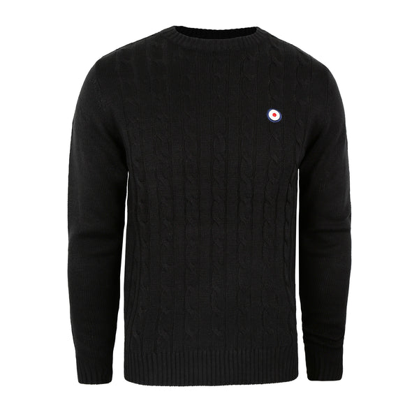Target Cable Knit Crew - Black