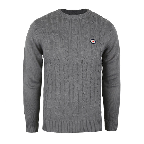 Target Cable Knit Crew - Grey