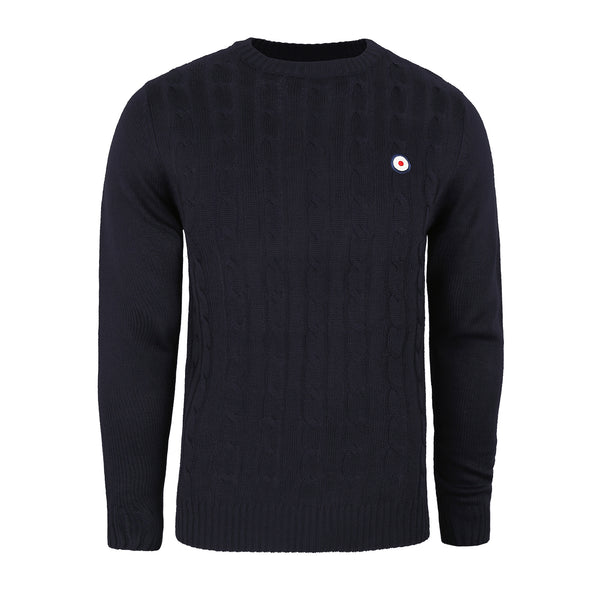 Target Cable Knit Crew - Navy