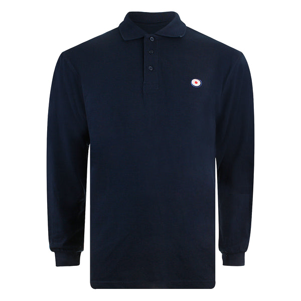 Target L/S Polo Shirt - Navy