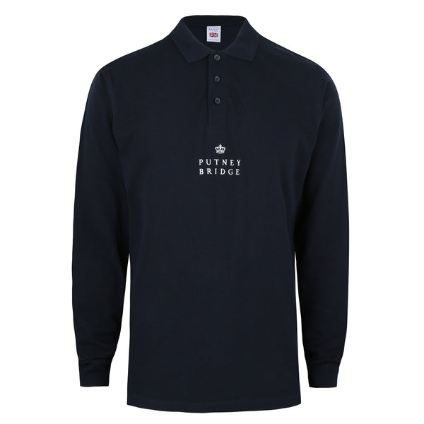 Finsbury Long Sleeve Polo Shirt - Navy