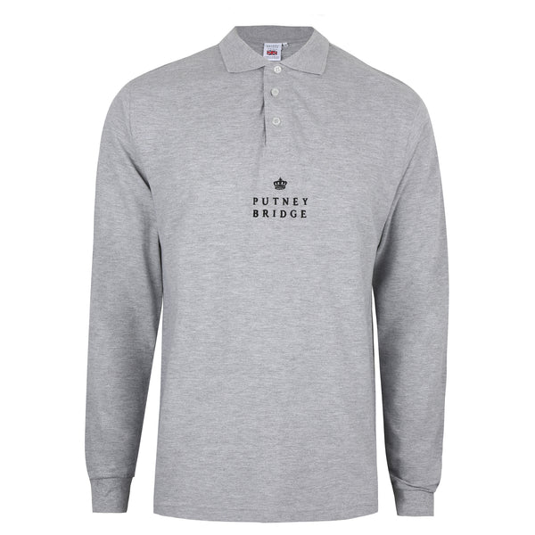 Finsbury Long Sleeve Polo Shirt - Grey Marl