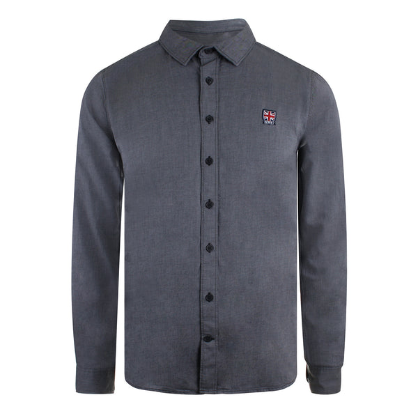 Emblem Shirt - Mid Heather Grey Twill