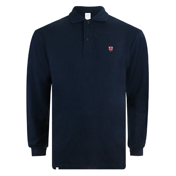 Union Badge L/S Polo Shirt - Navy
