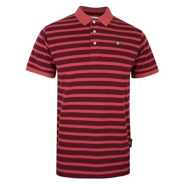 Harwood Polo Shirt - Burgundy/ Light Burgundy