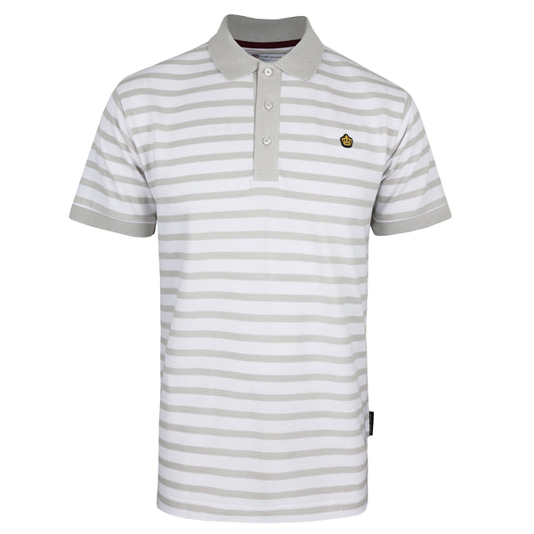 Harwood Polo Shirt - White/ Grey