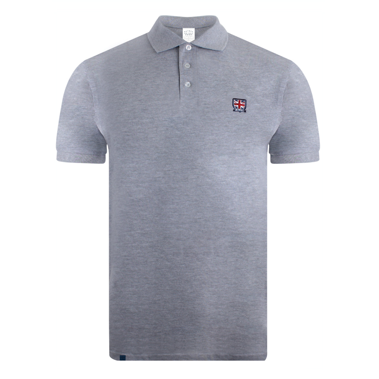 Emblem Polo Shirt - Grey Marl