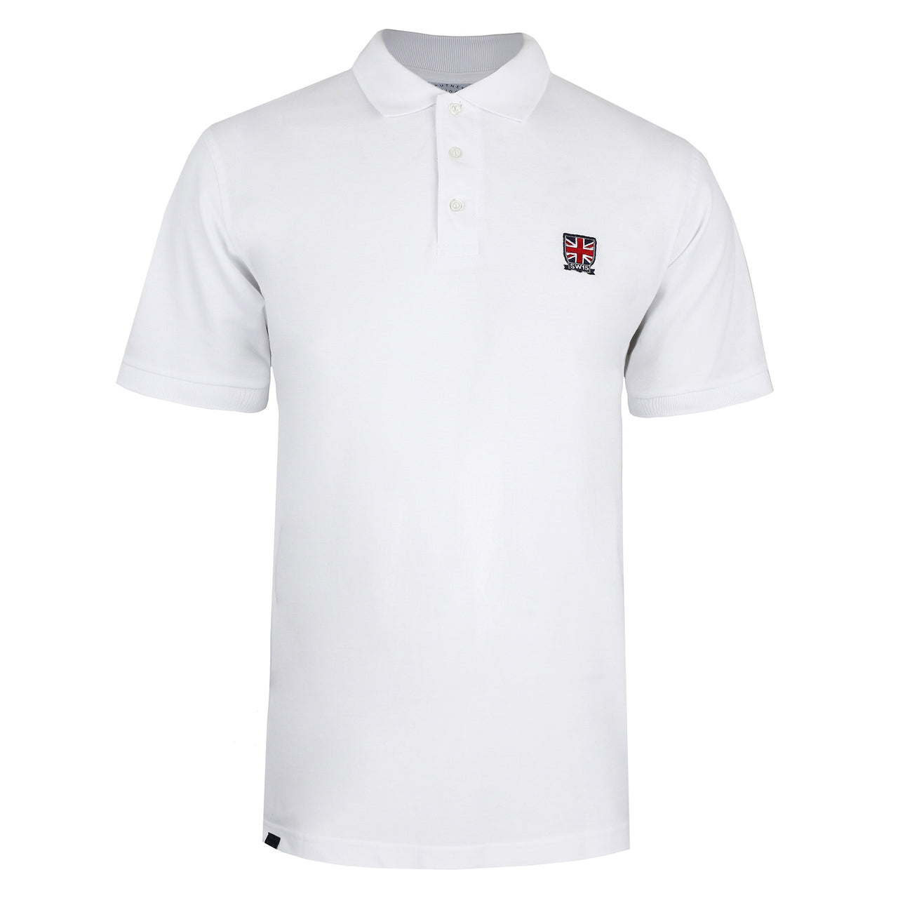 Emblem Polo Shirt - White