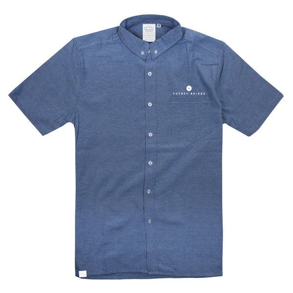 Button Logo Shirt - Blue