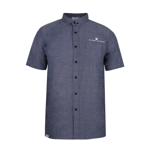 Button Logo Shirt - Grey